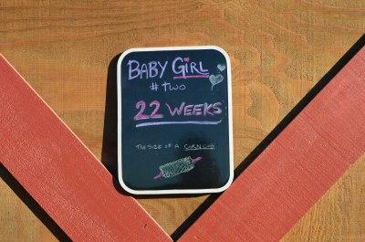 22 week sign