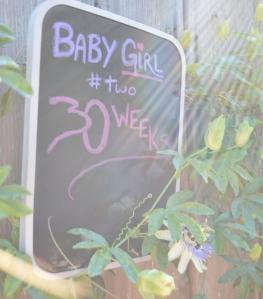 30 week chalk board