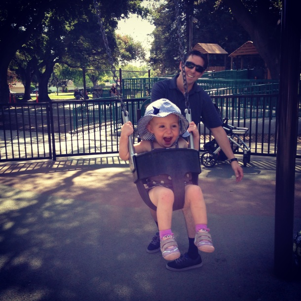 We celebrated with a trip to the park after getting good news about Piper's heart!