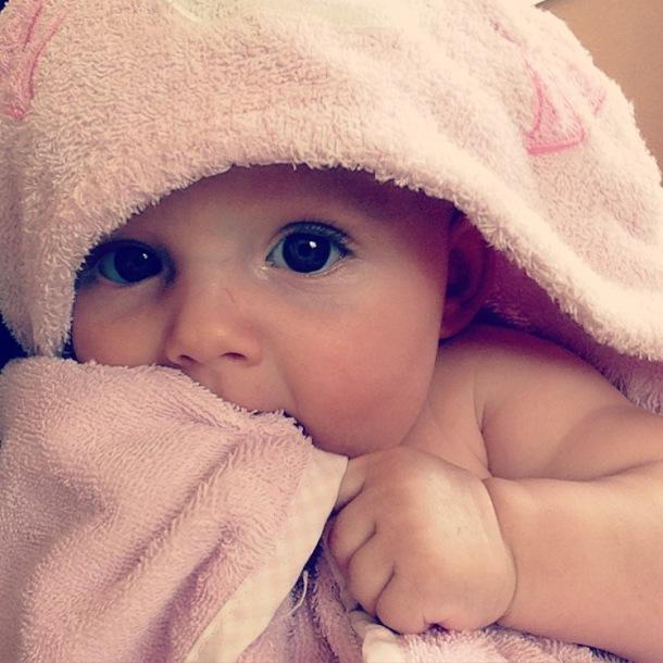 bath time with Kenzie